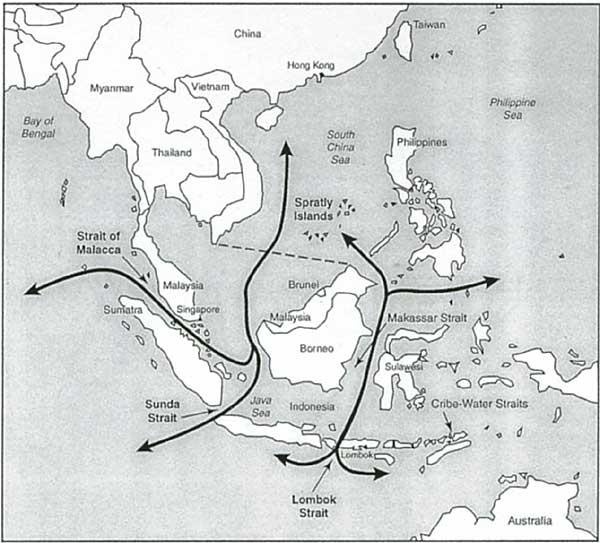 巽他海峡和龙目海峡